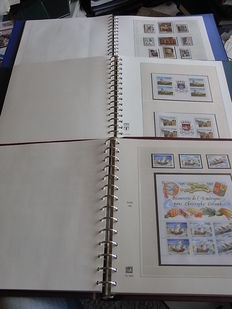 Europa Stamps 1973/1992 - Three collections CEPT and followers  in Lindner-T preprinted albums.