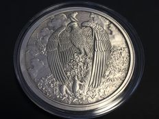 USA – 5 oz medal 2017 'Nordic Creatures – The Great Eagle' with certificate – 5 oz silver