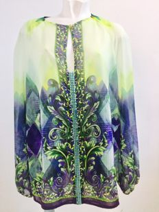 Versace - organza and rhinestone shirt