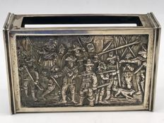 Large Dutch silver matchbox - Night Watch - H. Hooijkaas - The Netherlands 20th century.