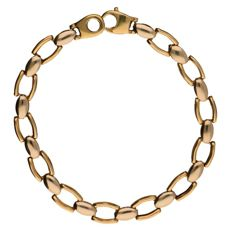 Bracelet with fantasty links, in 14 kt yellow and white gold - 10.4 g
