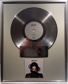 """Michael Jackson Xscape  - 12"""" german Sony Music platinum plated record with CD and cover by WWA gold Awards"""