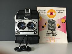 Super Duplex 120 dual-lens camera ISO Milan Italy, made between 1956-1957.