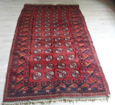 Beautiful Hand-knotted Afghan rug-  224cm x 128 cm No reserve price! Don't miss it!