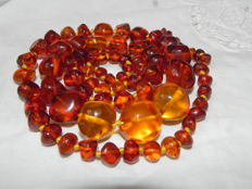 Natural Baltic amber bead necklace, length:  90cm