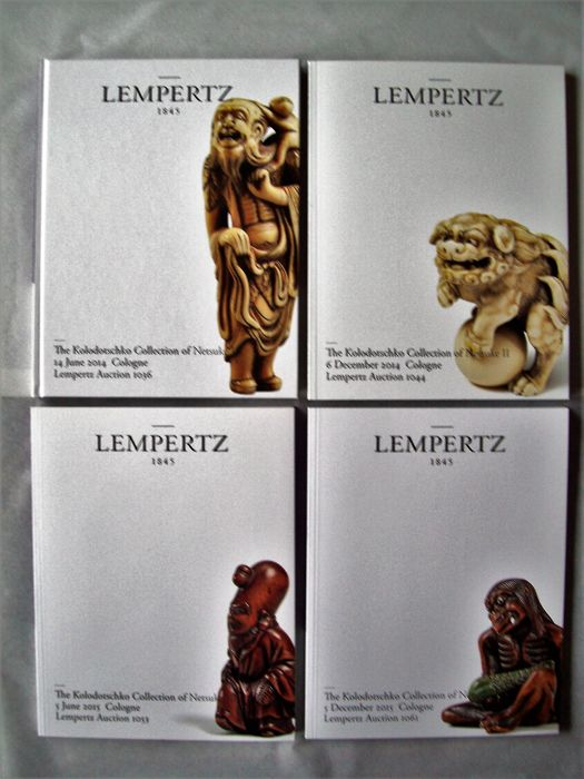 Lempertz Auction Cologne - The Kolodotschko Collection of Netsuke I - V ( 5 volumes complete with results) - 2014/2017