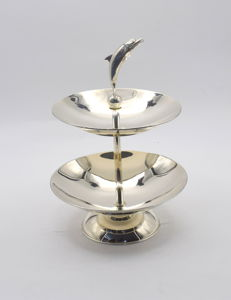Designer  sterling silver cake & cookie  stand   International hallmarked 925