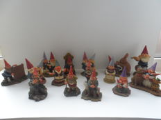 Collection of 15 gnome figures