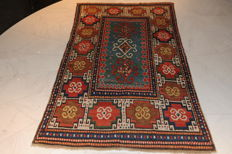 Morghan carpet, 19th century, extremely beautiful and very antique item, approx. 203 x 120 cm