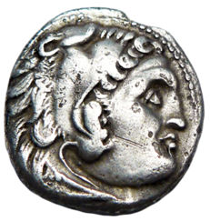 Greek Antiquity – Macedonia. Alexander III The Great (336-323 BC), silver Drachma. Posthumously struck. Uncertain mint (Chios mint, 290-275 BC?).