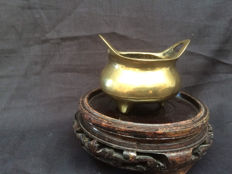 Bronze incense holder marked Xuantong - China - Early 20th century