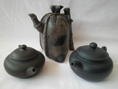 Yixing teapots, Ding Shu - China - all signed by the creators