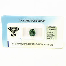 Green - Apatite - 2.40 - ct - NO RESERVE