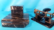 Art Deco Marble inkstand and hole punch