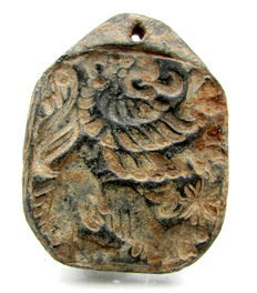 Rare Lead Venetian Merchant's Seal depicting the Lion of St. Marco - 41 mm