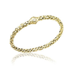 "Chimento – ""Stretch Classic 18 krt yellow gold bracelet – wrist size 18 cm"