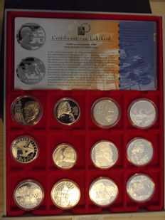 Europa - Various ECU and Euro Medals (22 pieces) - Silver