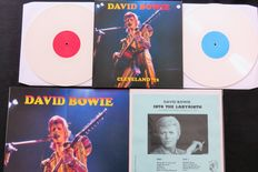 David Bowie - 2 times live on 3LP's: Cleveland '72 (2LP's + large poster) & Into The Labyrinth New York '73 (Limited, handnumbered)