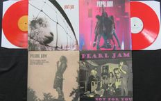 Pearl Jam - Great lot of 4LP's, including 2x coloured vinyl and 2x limited editions: Vs. / Ten / Live at cabaret Metro / Not For You -Rare Radio & TV Broadcasts-