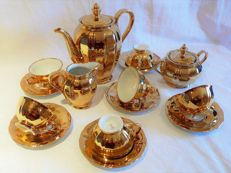 Bavaria coffee set for 6 people gold-gilded