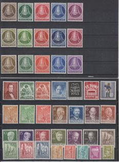 Berlin 1951/1954 – Selection Including the Three Clocks Series – Michel 74/105, 108/113 and 120/123