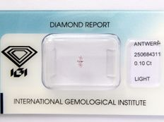 Natural pink diamond with IGI certificate – 0.10 ct