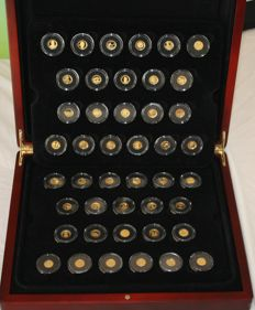 World - Full set of 44 coins 'The Smallest Gold Coins of the World' 2005/2012 - Gold