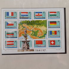 Europe 1950/1977 - postage stamps in Safe album and GDR of East Germany, Europe / forerunner to NATO and GDR or East Germany / Germany as well as Europe