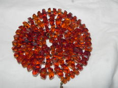 Natural Baltic amber bead necklace - length: 70cm