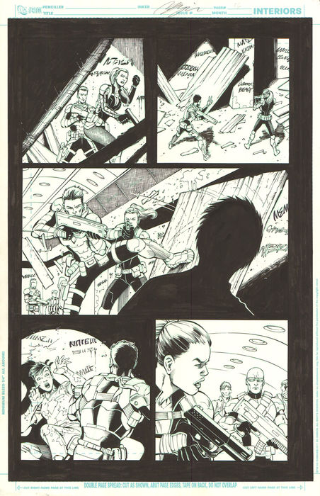 Original Art Page - Jesus Merino - DC Comics - Team 7 #1 (p.16) - (2012)