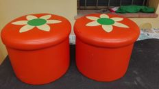 Two stools containers in sky, 1970s, Italy