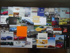 SPORTSCARS small brands - from Apollo Gumpert to Zonda Pagani, from Audax V8 to Westfield - Mixed lot of 40 original sales brochures