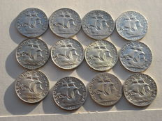 Portugal – Complete collection of 2.50 Escudo coins (silver)
