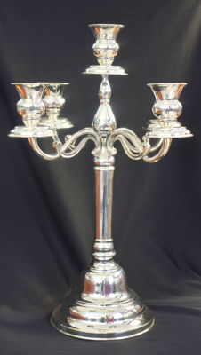 Designer 5 arms candlestick  sterling silver ashtray   International hallmarked 925