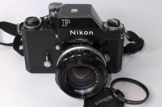 """Nikon F Photomic """"Apollo"""" prepared for the Motor with the lens of the same period Nikkor S.C Auto 50mm F1.4"""