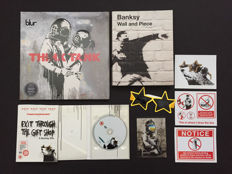 Banksy - LP: Blur Think Tank + Film: Exit through the gift shop + extras + book: Banksy Wall and Piece