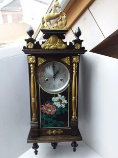 Regulator clock with copper ornaments - 2nd half 20th century.