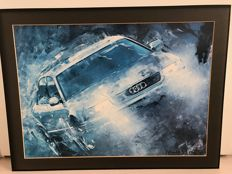 3 x Audi A4 and 1x Audi A8 poster signed by Michel Pont 1995