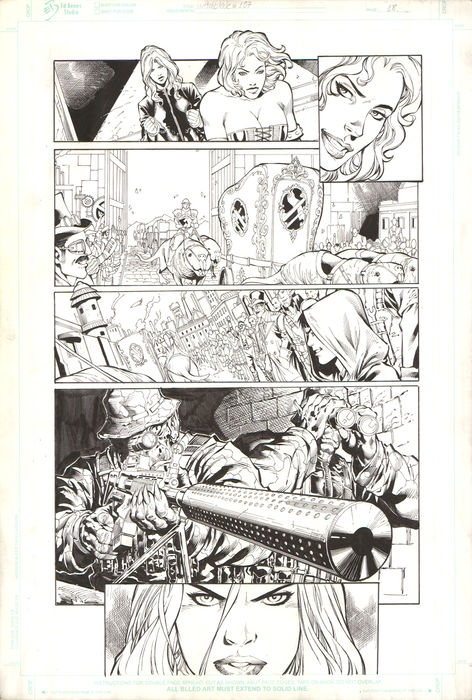 Original Comic Art - Fred Benes - Witchblade #157 (p.18) interior page - (1995)