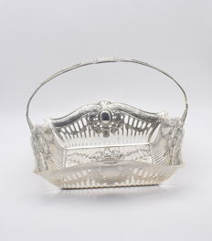 Designer silver bread basket, International hallmarked 900
