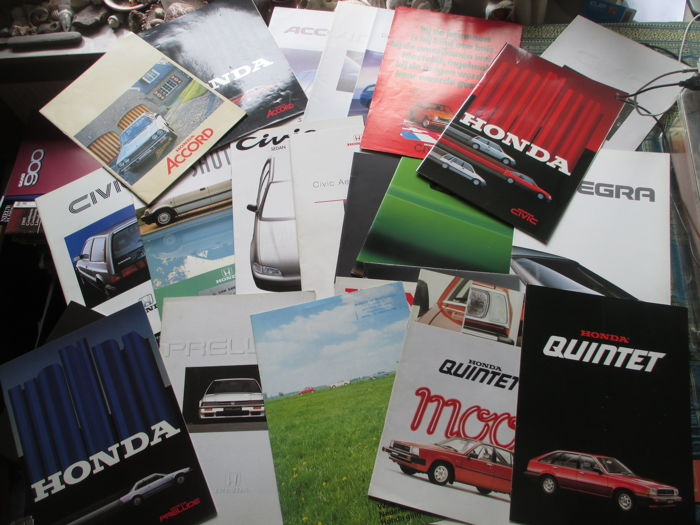 Car brochures (Honda, 1974-1992, 25x)