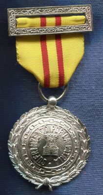 Wounded Medal.  With original box. Manufactured by Egaña. Spanish Civil War.