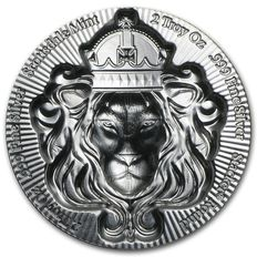 United States - silver coin - 3D lion by the Scottsdale Mint - stackable - 2 oz - 999 silver