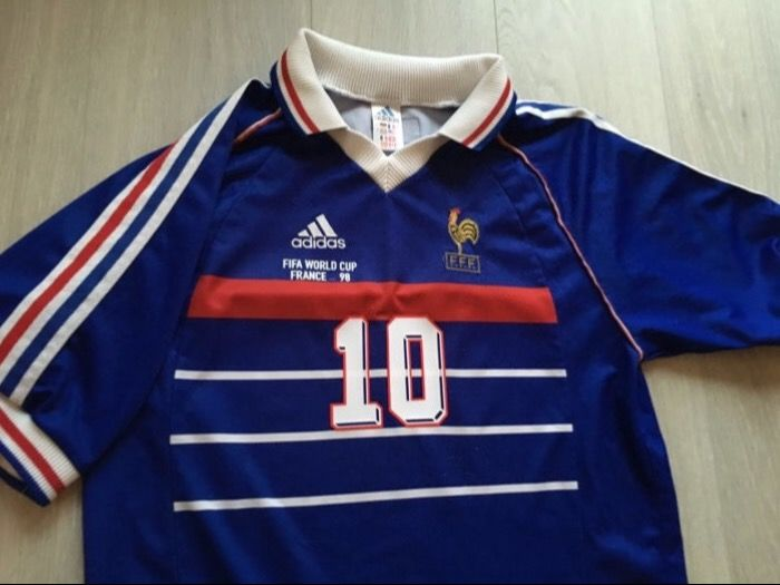 World Champion France Home Shirt - World Cup 1998 - Zidane 10 - Size L.