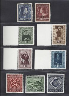 Liechtenstein 1951/1953 – Selection of various sets – Michel 304A/305A, 311/314, 319/321