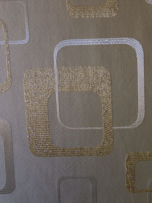 Unknown designer 11 meters of damask fabric vintage for Vintage space fabric