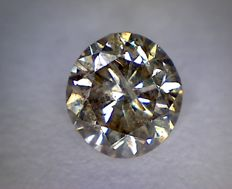 0.71 ct round cut diamond (Colour: Fancy brown - Clarity: SI3)