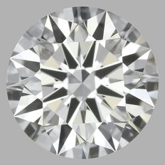 0.54 Carat Round Brilliant Diamond, FVVS2, Cert: GIA #1791