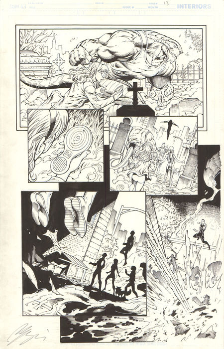 Original Comic Art - Ian Churchill - Ravagers #6 - p.13 - interior page - (2012)