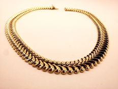14k yellow gold Women's necklace 66,3 gr - Length- 42,5 cm